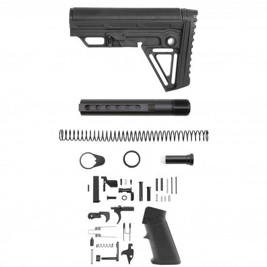 AR-10 / LR-308 Standard Lower Build Kit W/ ALPHA Stock | Mil-Spec