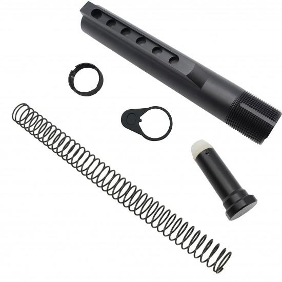 AR-10 / LR-308 Enhanced Ambidextrous Lower Build Kit W/ ALPHA Stock | Mil-Spec