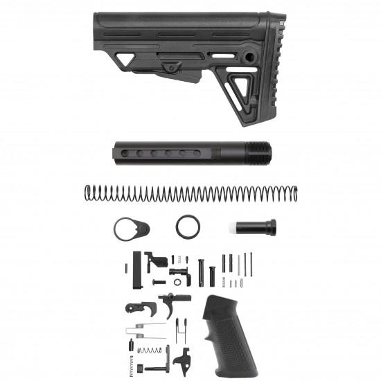 AR-10 / LR-308 Standard Lower Build Kit W/ ALPHA MK2 Stock | Mil-Spec