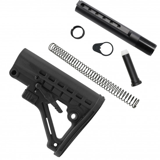 AR-15 Commercial 6 Position Stock And Buffer Kit With Heavy Duty Buffer
