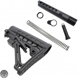 AR-15 .223 5.56 Mil Spec Butt Stock And Complete Mil Spec Buffer Tube Kit