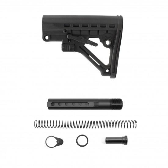 AR-10 / LR-308 Rifle Carbine 6 Position Buffer Tube Kit With Predator Buttstock | Mil-Spec