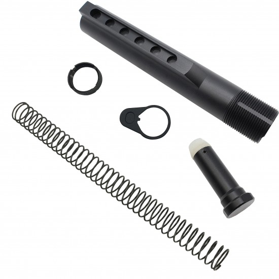 AR-10 / LR-308 Rifle Carbine 6 Position Buffer Tube Kit With Blackhawk Knoxx Collapsible Stock | Mil-Spec