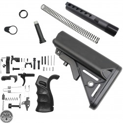 AR-15 Ambidextrous Lower Build Kit With Sopmod Buttstock