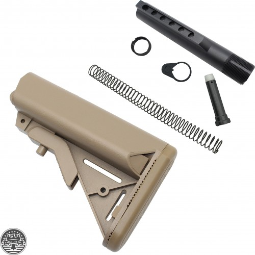 AR-15 SOPMOD BUTTSTOCK MIL SPEC W/ BUFFER TUBE KIT (TAN)