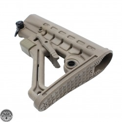 AR-15 Adjustable High Impact Construction Mil-Spec Stock | FDE