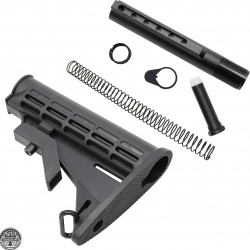 AR-15 6 pcs. Adjustable Stock W/ Collapsible Buffer Tube Kit - Commercial