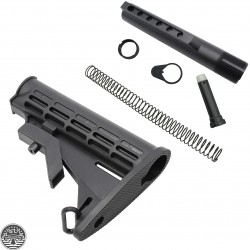 AR-15 MIL-SPEC Carbine Stock w/ 6 Position Buffer Tube Kit