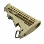AR-15 | AR-10 Collapsible Mil-Spec Carbine Stock - Tan
