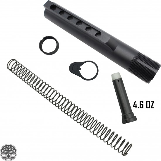 AR-15 Mil-Spec Buffer Tube Kit Heavy Duty 4.6 oz Buffer
