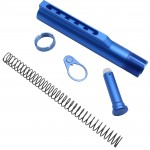 AR-15 M4 Six Position Buffer Tube Kit -Mil-Spec - Blue Anodized