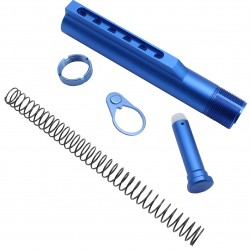 AR-15 M4 Six Position Buffer Tube Kit -Mil-Spec - Blue