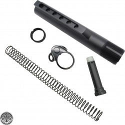 AR-15 6 Position Mil Spec Carbine Rifle Buffer Tube Kits w/Tactical Ambidextrous Sling Plate