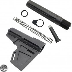 AR-15 Eagle Lite Milled Buffer Tube Kit And Kak Shockwave Blade Stabilizer