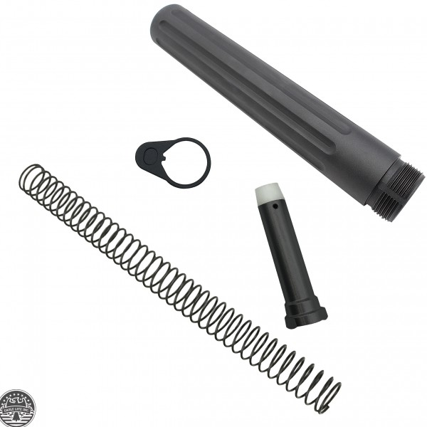 AR-15 Complete Pistol Buffer Tube Kit - Standard End Plate Compatible