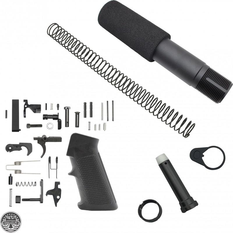 AR-15 Complete Pistol Buffer Tube Kit W/ Lower Parts Kit Option