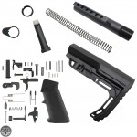 AR-15 Mil-Spec Lower Build Kit with Lightweight Butt Stock