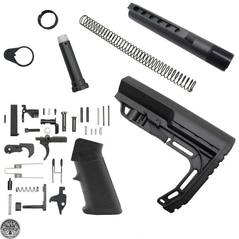 AR-15 Mil-Spec Lower Build Kit With Lightweight Butt Stock