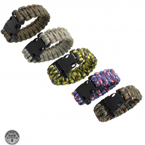 PARACORD BRACELET WITH WHISTLE