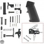 AR-15 Standard Lower Reciever Parts Kit W/ JMT Black Ops Single Stage Straight Drop In Trigger