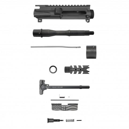 AR-15 5.56 7.5'' Barrel 7'' Quad Rail Handguard | USA Flag | Pistol Upper Build U29 [ASSEMBLED]