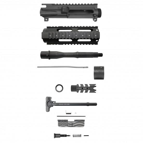 AR-15 5.56 7.5'' Barrel 7'' Quad Rail Handguard | USA Flag | Pistol Upper Build UPK29 [ASSEMBLED]