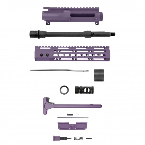 "AR-15 .223/5.56 10.5"" Barrel 10"" Cerakote Purple Keymod Handguard   Pistol Upper Build UPK58 [ASSEMBLED]"